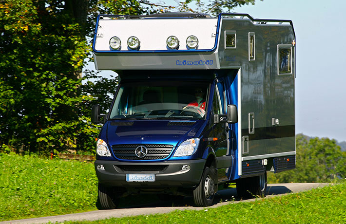 Overland Adventure On Mercedes Sprinter 4 X The Bimobil LBX 365 Is Built Onto Benz 4x4 Chassis Which Gives It Capability To